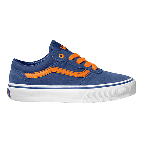 Buy Vans Milton Trainers, Navy/Orange Online at johnlewis.com