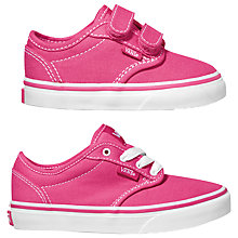 Buy Vans Atwood Canvas Trainers, Magenta/White Online at johnlewis.com