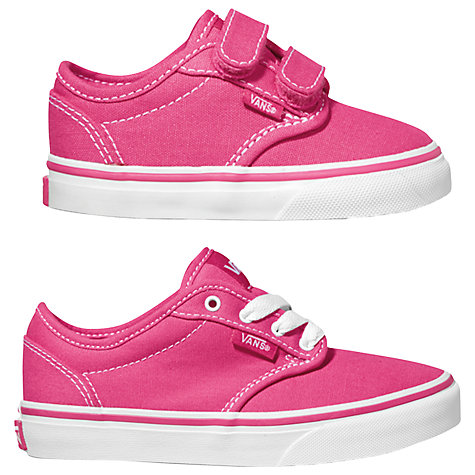 Buy Vans Atwood Trainers, Magenta/White Online at johnlewis.com