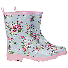Buy Cath Kidston Girl's Spray Flower Wellington Boots, Pink/Blue Online at johnlewis.com