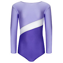 Buy Tappers and Pointers Shine Panel Gym Leotard, Purple Online at johnlewis.com