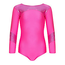 Buy Tappers and Pointers Shine Panel Gym Leotard, Pink Online at johnlewis.com