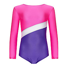 Buy Tappers and Pointers Shine Panel Gym Leotard, Pink/Purple Online at johnlewis.com