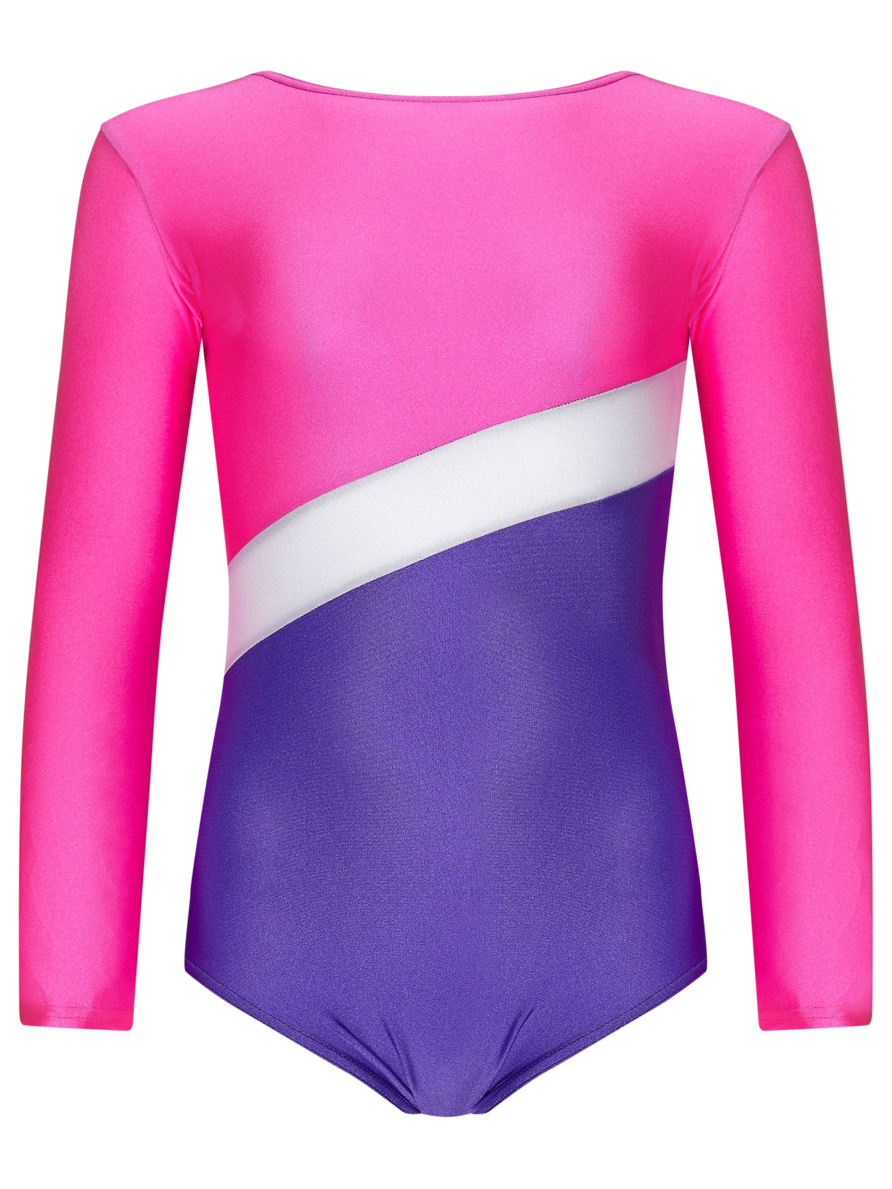 Tappers and Pointers Tappers and Pointers Shine Panel Gym Leotard, Pink/Purple