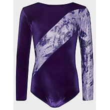 Buy Tappers and Pointers Shine Panel Gym Leotard, Purple/Lilac Online at johnlewis.com