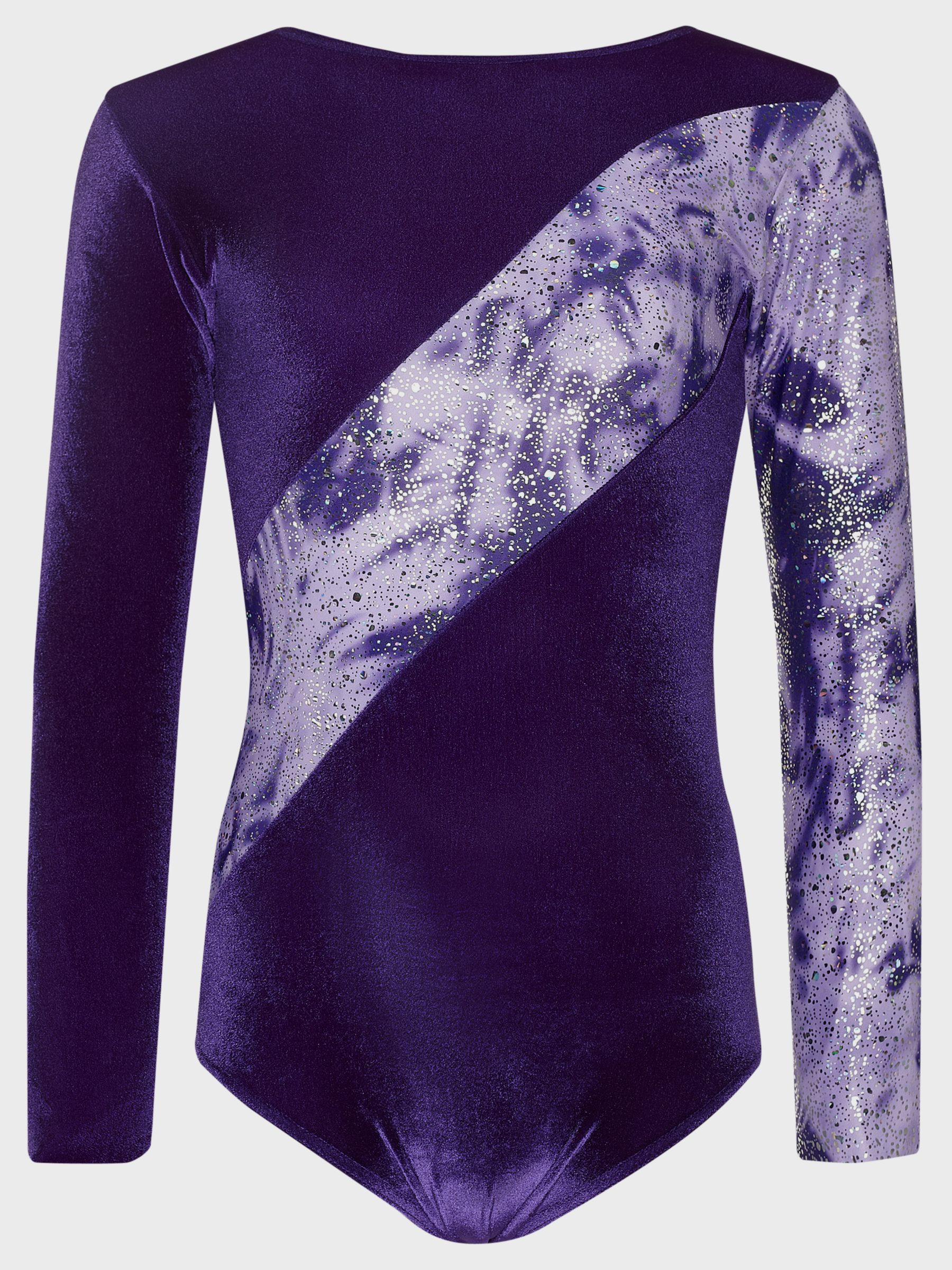 Tappers and Pointers Tappers and Pointers Shine Panel Gym Leotard, Purple/Lilac