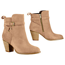 Buy Lauren by Ralph Lauren Macie Suede Ankle Boots, Taupe Online at johnlewis.com