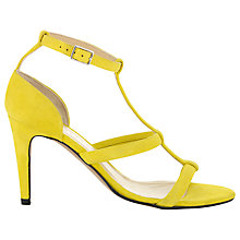 Buy Whistles Monza T-Bar Sandals, Yellow Online at johnlewis.com