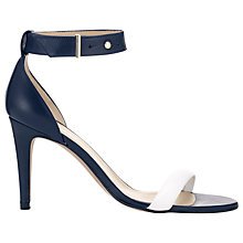 Buy Whistle Cafe Royal Two Part Heeled Sandals, Navy Online at johnlewis.com