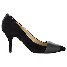 Buy Whistles Bitter Sweet Panel Pointed Heels, Black Online at johnlewis.com