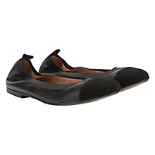 Buy Mint Velvet Ballet Pumps, Black Online at johnlewis.com