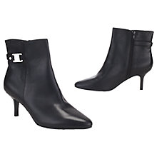 Buy Lauren by Ralph Lauren Nata Leather Kitten Heel Ankle Boots, Black Online at johnlewis.com