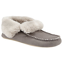 Buy John Lewis Mimi Moc Bootie Slippers, Grey Online at johnlewis.com