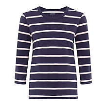 Buy John Lewis Capsule Collection Breton Stripe Top, Navy/Pink Online at johnlewis.com