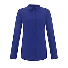 Buy Kin by John Lewis Seamed Shirt, Cobalt Online at johnlewis.com