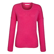 Buy John Lewis Cashmere Sweat Top, Cerise Online at johnlewis.com