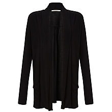 Buy John Lewis Capsule Collection Edge to Edge Slub Cardigan, Black Online at johnlewis.com