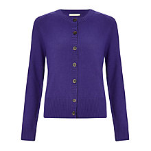 Buy John Lewis Capsule Collection Crew Cardigan, Purple Online at johnlewis.com