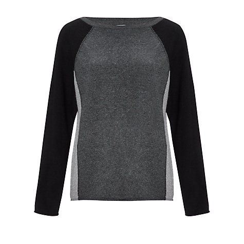 Buy Kin by John Lewis Colour Block Jumper, Greys Online at johnlewis.com