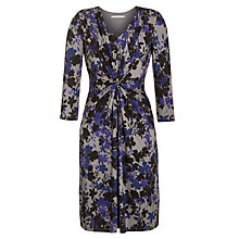 Buy John Lewis Capsule Collection Vintage Leaf Dress, Purple/Black/Grey Online at johnlewis.com