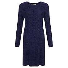Buy John Lewis Capsule Collection Cable Knitted Dress, Purple/Black Online at johnlewis.com