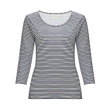 Buy John Lewis Capsule Collection Stripe Top, Ink Grey/White Online at johnlewis.com