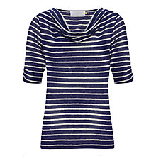 Buy Collection WEEKEND by John Lewis Linen Cowl Neck Stripe Top Online at johnlewis.com
