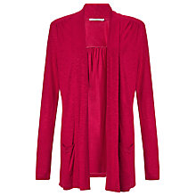Buy John Lewis Capsule Collection Slub Cardigan, Magenta Online at johnlewis.com