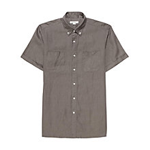 Buy Reiss Path Short Sleeve Linen Shirt Online at johnlewis.com