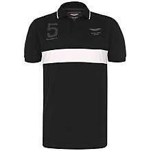 Buy Hackett London Aston Martin Racing Stripe Polo Shirt Online at johnlewis.com