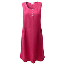Buy East Pocket Linen Dress, Bright Pink Online at johnlewis.com