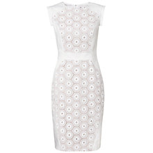 Buy Adrianna Papell Eyelet Lace Dress, White Online at johnlewis.com