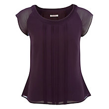 Buy Jacques Vert Chiffon Blouse, Purple Wine Online at johnlewis.com