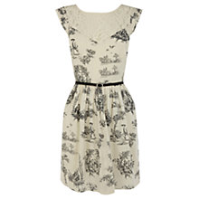 Buy Oasis Toile de Jouy Dress, Black/Ivory Online at johnlewis.com