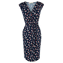 Buy Oasis Cherry Print Wrap Dress, Navy Online at johnlewis.com