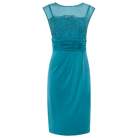 Buy Alexon Embroidered Jersey Dress, Blue Online at johnlewis.com