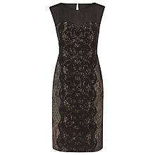 Buy Alexon Bonded Lace Dress, Black Online at johnlewis.com
