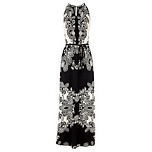 Buy Oasis Lace Print Dress, Black/White Online at johnlewis.com