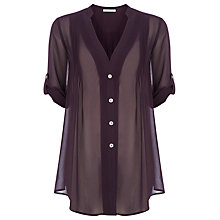Buy Jacques Vert Over Shirt, Purple Online at johnlewis.com