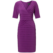 Buy Adrianna Papell Lap Over Neck Dress, Orchid Online at johnlewis.com