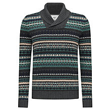 Buy John Lewis Jacquard Shawl Neck Jumper, Duck Egg Online at johnlewis.com