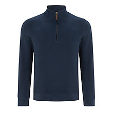 Buy John Lewis Cotton Panel 1/4 Zip Jumper Online at johnlewis.com