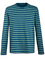 Buy John Lewis Organic Tonal Stripe Top, Teal, M Online at johnlewis.com
