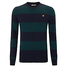 Buy Lyle & Scott Rugby Stripe Jumper, New Navy/Teal Online at johnlewis.com