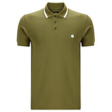 Buy Pretty Green Under Collar Stripe Short Sleeve Polo Shirt Online at johnlewis.com