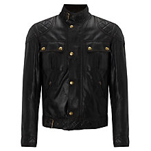 Buy Belstaff Icon Blouson Waxed Jacket, Black Online at johnlewis.com