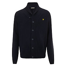 Buy Lyle & Scott Shawl Collar Lambswool Cardigan, New Navy Online at johnlewis.com
