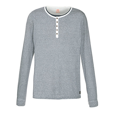 Buy Scotch & Soda Grandad Long Sleeve Top, Blue/White Online at johnlewis.com