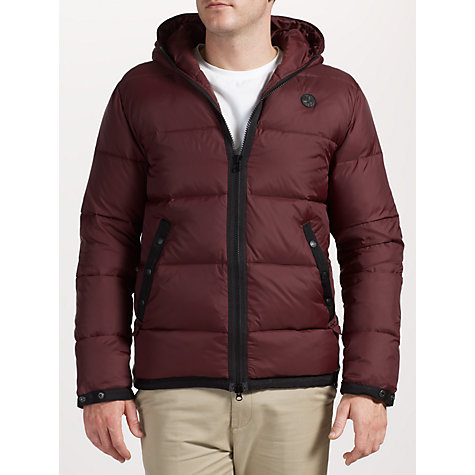 Buy Pretty Green Bubbla Jacket, Burgundy Online at johnlewis.com