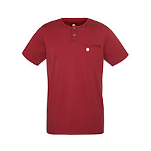 Buy Pretty Green Cotton Dubby T-Shirt, Dark Red Online at johnlewis.com
